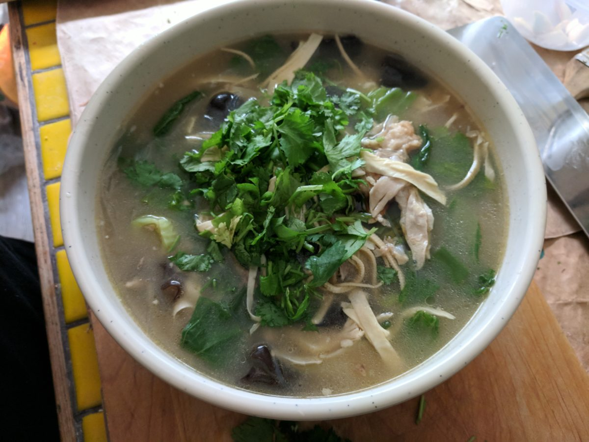 Recipe: Chinese Mustard Green Chicken Soup